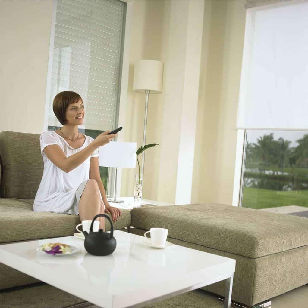 Elektrische raamdecoratie via afstandsbediening